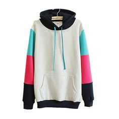 Omine Women's College Casual Active Panel Colorblock Graphic Pattern Fashion Hoodie Sweatshirt Grey One Size Cfanny http://www.amazon.co.uk/dp/B00RWWVQVQ/ref=cm_sw_r_pi_dp_ud5zwb1EBCC00