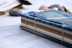 Notizbuch aus recycleten Jeans von buechertiger auf Etsy
