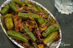 Culinary Xpress: BHINDI DO PYAZA- OKRA STIR FRIED IN ONION & TOMATOES