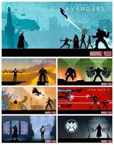 """All MCU Phase I banners, though """"SHIELD"""" counts as Phase II, no?"""