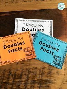 Check out these fun activities for teaching the Doubles Strategy! This is perfect for first, and second grade. Doubles BINGO, I have who has, My Doubles Booklet as well as some eye catching posters to help students master their doubles math facts. Fun Act Math Doubles, Doubles Facts, Math Skills, Math Lessons, Teaching Math, Teaching Tips, Maths, Creative Teaching, Math Literacy