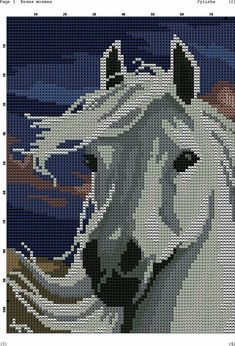Horse cross stitch.
