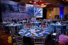 Royal Blue Wedding Centerpieces   ... Blue Tie Gala in Royal Blue & White   Nashville Wedding Guide for