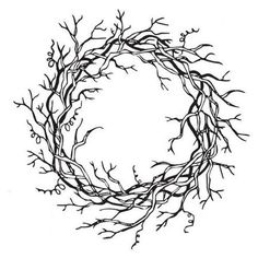 Sarasota Stamps Mounted Rubber Vine Wreath Stamp