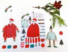 DIY Christmas printable Paper Toys