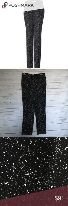 DVF MARTINE GALAXY PANTS | Like new condition | Galaxy Print | side pockets | pleated front | zip fly / Button / hidden hook closure | Diane von Furstenberg Pants Trousers