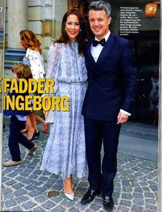Crown Prince Frederik and Crown Princess Mary attended the baptism of Countess Ingeborg, the daughter of Count Bendt Wedell and his wife Pernille at the Church of Holmens in Copenhagen, Denmark on August 19, 2015.