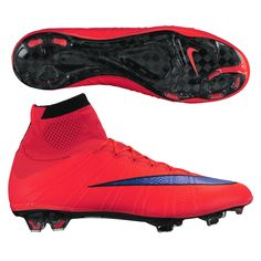 Nike Mercurial SuperFly IV FG Soccer Cleats (Bright Crimson/Persian Violet)