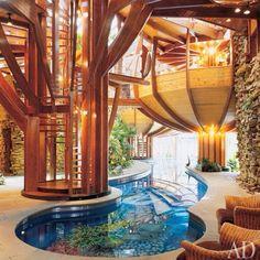 Indoor coy pool... modern living Organic Architecture, Interior Architecture, Beautiful Architecture, Installation Architecture, Pavilion Architecture, Residential Architecture, Contemporary Architecture, Modern Interior, Architecture Apps