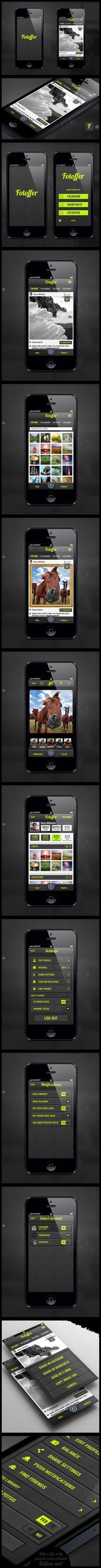 Fotoffer app (2012) by Konstantin Kondratovich, via Behance