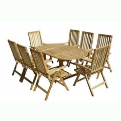 VIFAH V1143SET2 Outdoor Nine-Piece Teak Dining Set with Oval Table and Eight Outdoor Pos Teak Chairs by VIFAH. $2799.00. Harvested from certified forests with natural oils in the wood act as preservatives to resist insect attack and decay. FSC high density wood (shorea) is a hardwood growing naturally and plentifully in Asia Pacific protected forests. FSC high density wood (shorea) is mold, mildew, fungi, termites, rot and decay-resistant. Includes: 1 outdoor teak ov...