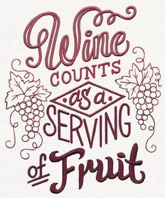 Uncorked - Wine Counts as a Serving of Fruit design (UT13324) from UrbanThreads.com