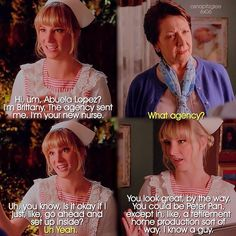 """#Glee 6x06 """"What the World Needs Now"""" - Brittany and Santana grandmother Alma Lopez"""