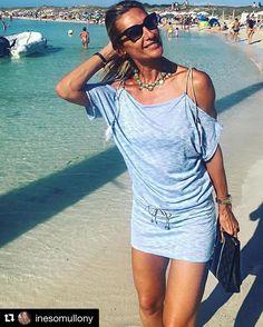 #Repost @inesomullony (@get_repost)  Muchas gracias Mónica por lucir así de estupenda uno de nuestros collares. Con tu tipazo y tan morena no podía ser de otra forma  #Repost @pontmonica (@get_repost)  Disfrutando de los últimos días de sol y playita en Formentera con complementos de @inesomullony #collares #bisuteria #spanishdesign #complementos #inesomullony #moda #summer #holidays