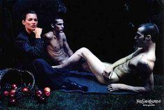 Yves Saint Laurent ad citing Manet's Dejeuner sur l'herbe
