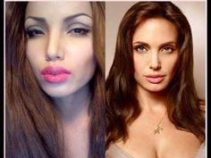 Makyaj ile Angelina Jolieye Dönüşen Kadın http://goster.co/makyaj-ile-angelina-jolieye-donusen-kadin