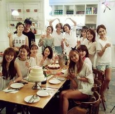 Stars Celebrate Bae Yong Joon and Park Soo Jin's Bridal Shower and Wedding Park Yong Ha, Park Soo Jin, Bae Yong Joon, Girls Generation, Jeon Hye Bin, Yuri, Hyun Young, Hwang Jung Eum, Korean Entertainment