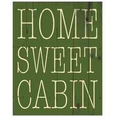 Home Sweet Cabin by Eazl Premium Gallery Wrap, Size: 16 x 20, Multicolor