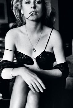 Catherine Deneuve, Esquire, Paris, 1976 by Helmut Newton