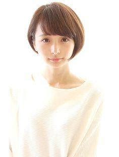 レウナ 外苑前(Reuna) 黒髪でも可愛く決まるコンパクトショートボブ
