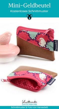 Mini purse small wallet sew free sewing pattern free sewing instructions freebie sewing idea gift id Wallet Sewing Pattern, Sewing Patterns Free, Free Sewing, Sewing Tutorials, Sewing Projects, Sewing Hacks, Purse Patterns, Sew Wallet, Wire Crochet