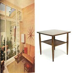 Danish Modern Walnut Table $179 - Waterford  #vintage #furniture #MCM http://furnishly.com/catalog/product/view/id/3038/s/danish-modern-walnut-table/