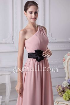 6dc22c610f0 Sheath Column Mother Of The Bride Dresses One Shoulder Ankle Length Chiffon  Pink 120010400044 Bride