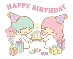 cartoons gif Little Twin Stars: Costume Collection sticker Happy Birthday Cards, Birthday Greetings, Keroppi Wallpaper, Chinese New Year Images, Melody Hello Kitty, My Melody Wallpaper, Birthday Wallpaper, Cute Texts, Cartoon Gifs