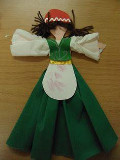Τα μικιά μου , arts kindergarten: Κούκλες με παραδοσιακές φορεσιές