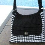 Crochet Hounds Tooth Bag
