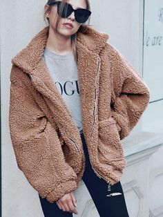 c8b531c46d1 Boyfriend Winter Faux Coat. Shearling JacketFaux Fur ...