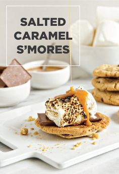 Salted Caramel S'mores - a super easy recipe for a decadent summer or fall dessert.