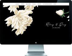 Wedding website template Camellia color
