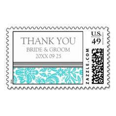 $$$ This is great for          	Aqua Grey Damask Thank You Wedding Stamps           	Aqua Grey Damask Thank You Wedding Stamps This site is will advise you where to buyReview          	Aqua Grey Damask Thank You Wedding Stamps Online Secure Check out Quick and Easy...Cleck Hot Deals >>> http://www.zazzle.com/aqua_grey_damask_thank_you_wedding_stamps-172749054428373579?rf=238627982471231924&zbar=1&tc=terrest