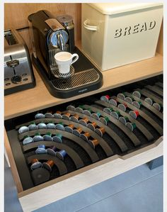 TheCoffeeBox Nespresso Coffee Capsule Holder   Storage Drawer Holds 60  Nespresso Pods | CcCcOoOoFfFfFfFfEeEeEeEeeeeeeee | Pinterest | Nespresso,  Coffee And ...