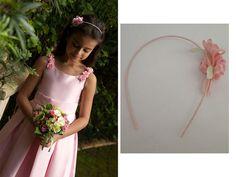 Tiara com flor para daminhas de casamento