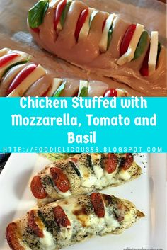 Chicken Stuffed with Mozzarella, Tomato and Basil (Gluten Free ) Diabetic Chicken Recipes, Easy Diabetic Meals, Diabetic Recipes For Dinner, Diabetic Foods, Best Gluten Free Recipes, Low Carb Recipes, Chicken Linguine, Fun Food, Yummy Food