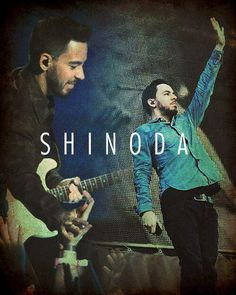 Mike Shinoda - haha on the right it looks like he's trying to stop someone from crossing his path xD