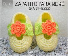 Patrón Gratis: Zapatito para bebé #3 / 0 a 3 meses (video)   Manualidades