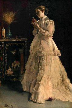 La dame en rose (1866), by Alfred Stevens