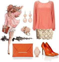 """orange"" by simona-mari on Polyvore"