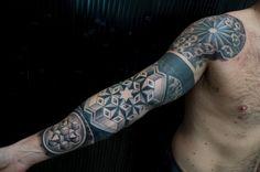 Sleeve tattoo geometric