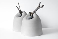New vases with stone –numbered collection-