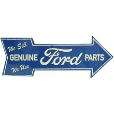 Open Road Brands Ford Genuine Parts Embossed Die Cut Tin Sign | Shop Hobby Lobby