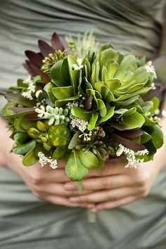 A few succulents and a lot of greenery White Flowers, Beautiful Flowers, Wedding Bouquets, Bridesmaid Bouquets, Bridesmaids, Succulent Bouquet, Rustic Bouquet, Spring Bouquet, Wedding Ideas