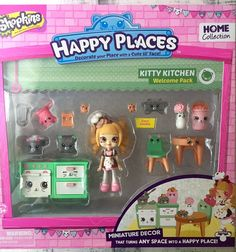 Shopkins Happy Places Coco Cookie Kitty Kitchen Welcome Pack Home Collection HTF #MooseToys