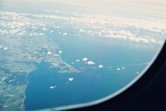 Denmark out the plane window