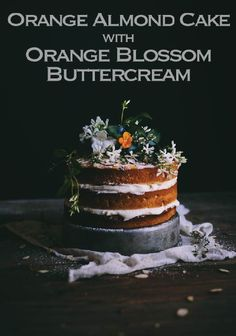 Wow your guests at your summer party with this beautiful and equally delicious Orange Almond Cake with Orange Blossom Buttercream!