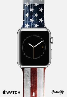 American Wooden Flag Apple Watch Band | @Casetify
