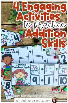 Looking for some engaging activities to practice addition with your little ones? Check out these simple strategies and activities, along with one free activity to practice hands on addition! Click the pin to check out these addition activities.